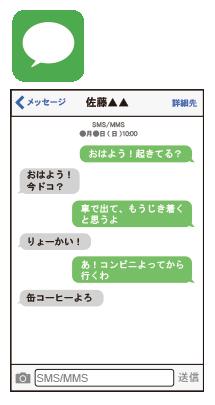 iPhoneのメッセージappの利用イメージ
