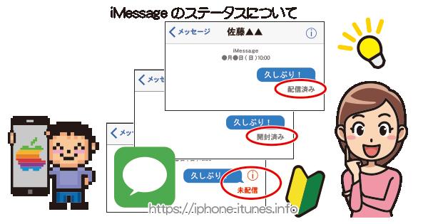 iMessageの送信ステイタスについて|iPhoneの使い方