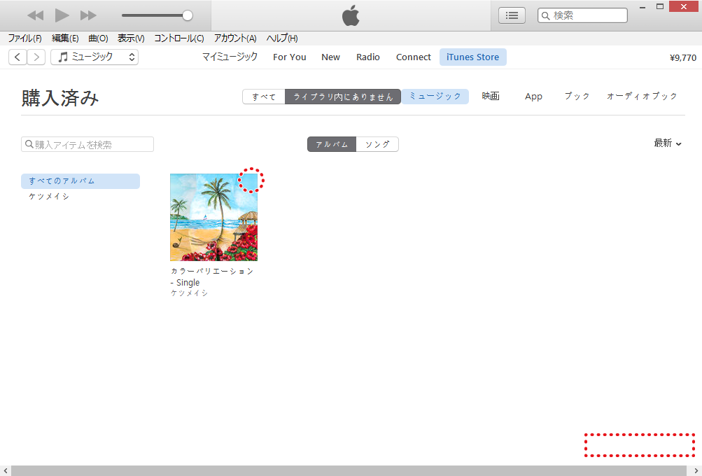 iTunes Storeで購入した