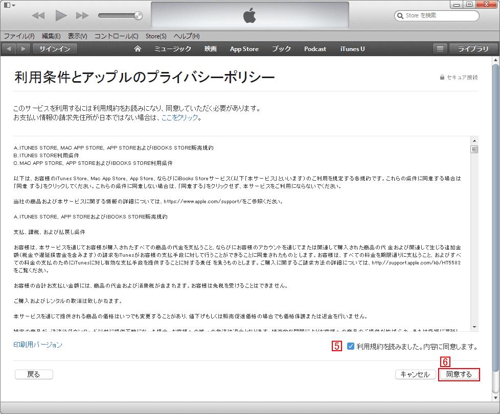 iTunes Store詳細入力