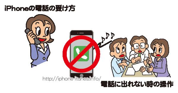iPhoneで電話に出れない時の対処法