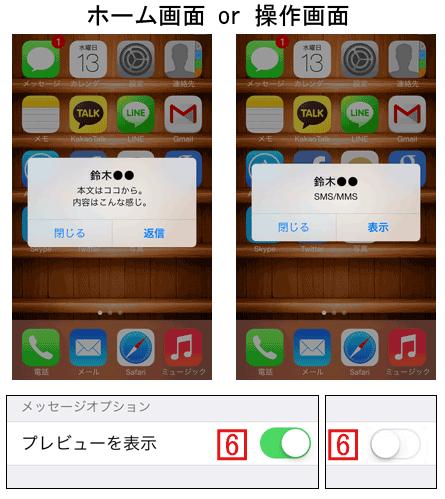 メッセージの通知をダイアログで行う場合も内容の表示/非表示が選択可能