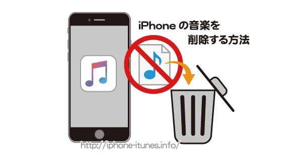 iPhoneから音楽を削除する方法