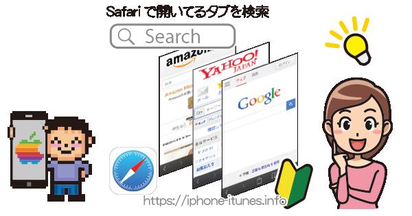 Safariで開いているタブを検索|iPhoneの使い方