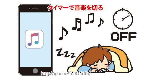 iPhoneで再生中の音楽をタイマーでオフにする