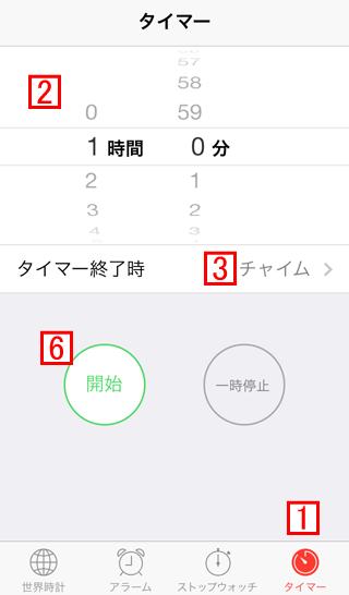 iPhoneの時計Appでタイマー機能を利用し再生を止める