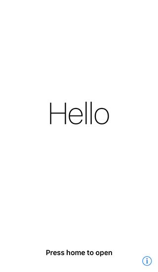 まずはiPhoneのホームボタンを押下