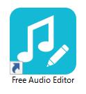 Free Audio Editorのインストールが完了