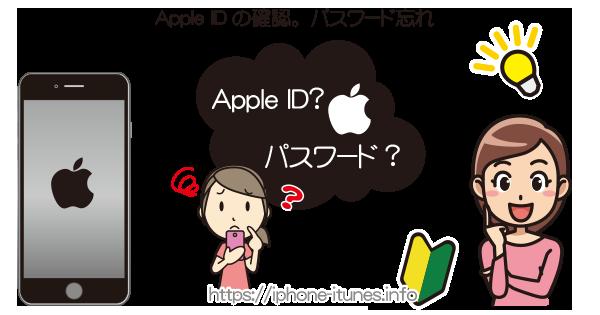 Apple IDの確認・パスワードの確認