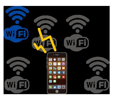 iPhoneがWi-Fiに「つながらない|混線してない?