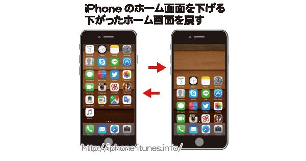 iPhoneのホーム画面が下がる機能について