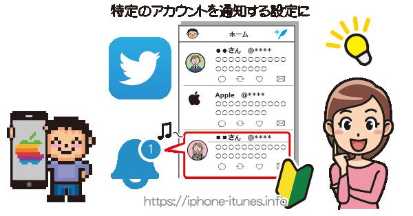 特定のTwitterアカウントのツイートを音で通知|iPhoneの使い方