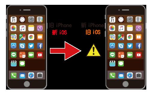 旧iPhoneの方が最新のiOSになってしまっている
